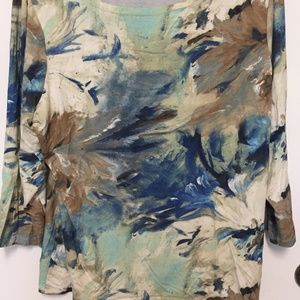 Coldwater Creek MULTI-COLOR TOP. Has Stretch 1X.